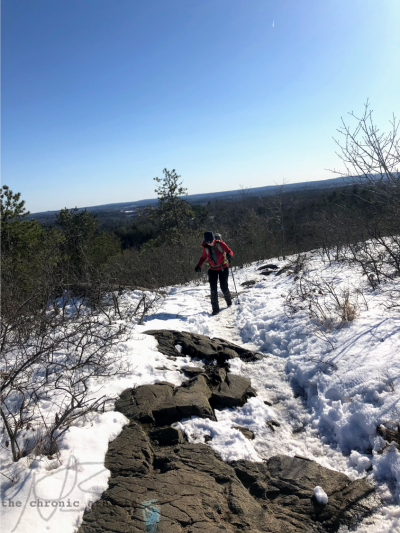 Hiking up hills in snow. Chronic illness, chronic pain, invisible illness. Copyright to Cole, author of the blog.